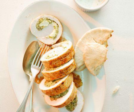 Putenbraten mit Weißkohlfüllung