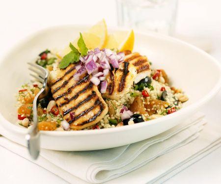 Putenbrust mit Couscous-Salat