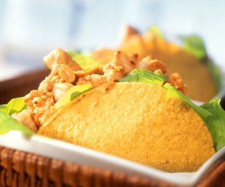 Putengeschnetzeltes in Taco Shells