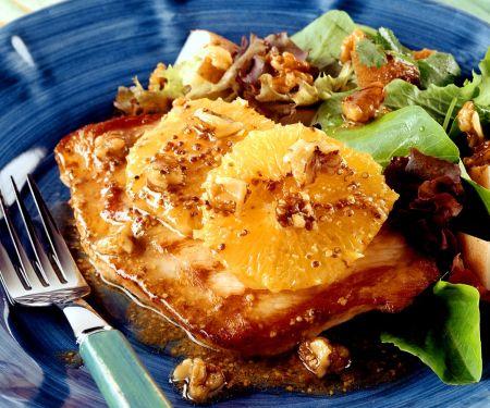 Putenschnitzel mit fruchtigem Kartoffelsalat