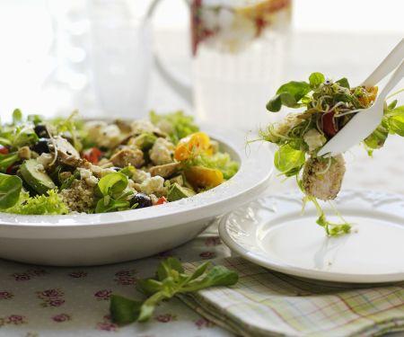 Quinoa-Hähnchensalat
