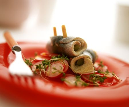 Radieschensalat mit Rollmops