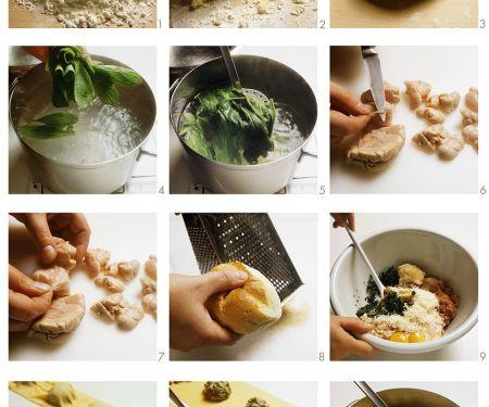 Ravioli mit Kalbfleischfüllung