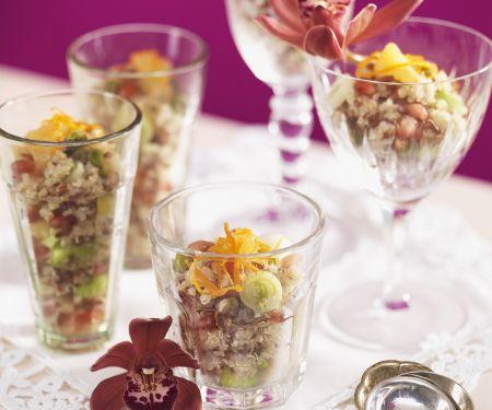 Reissalat auf orientalische Art mit Pistazien