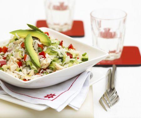 Reissalat mit Hähnchen und Avocado