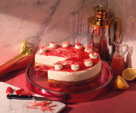 Rhabarber-Sahne-Torte