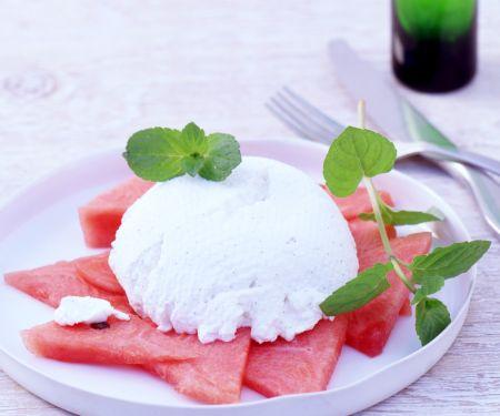 Ricotta-Creme mit Melone