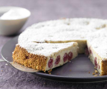 Ricotta-Quark-Kuchen mit Sauerkirschen