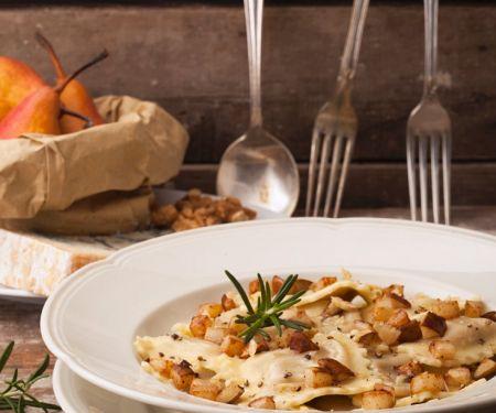 Ricotta-Ravioli mit Birne