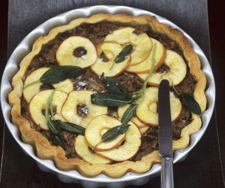Rillette-Tarte mit Apfel