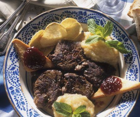 Rinderfilet mit Kartoffelpüree