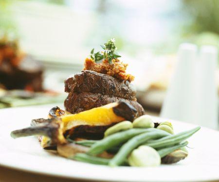 Rindermedaillons mit Gemüse