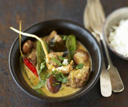 Rindfleisch in Kokos-Curry-Sauce