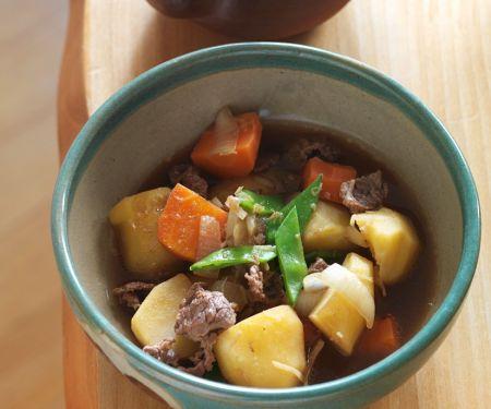 Rindfleisch-Kartoffel-Eintopf nach japanischer Art