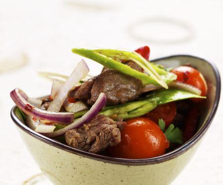 Rindfleisch-Tomatensalat mit Zitronengras