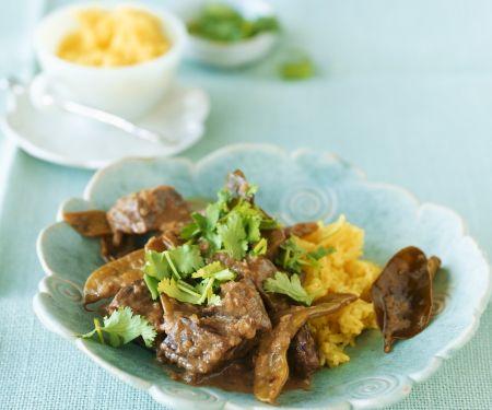 Rindfleischcurry mit Bohnen