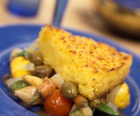 Risotto-Schnitten mit Gemüse