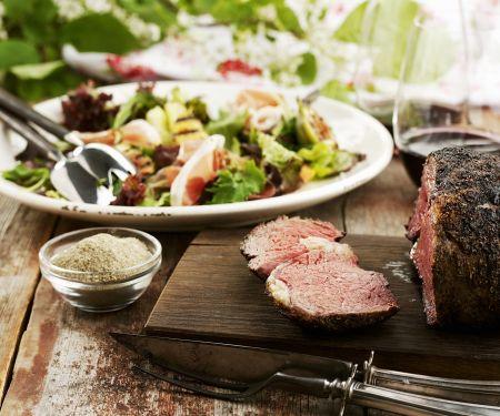 Roastbeef mit gemischtem Salat