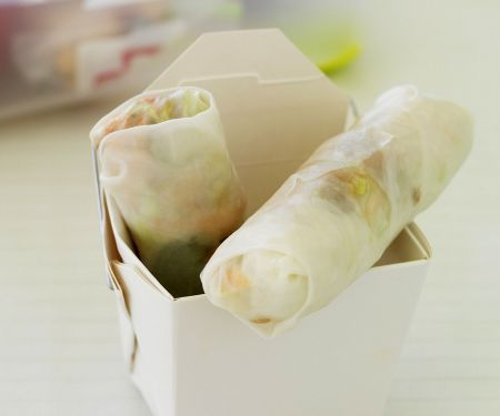 Röllchen aus Reispapier