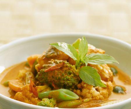 Rotes Curry mit Gemüse