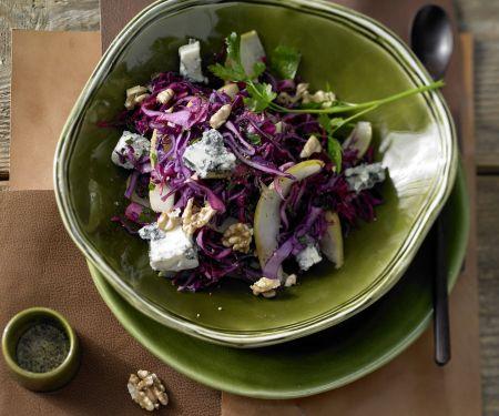 Rotkohl-Birnen-Salat