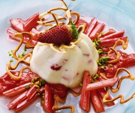 Sahnecreme mit Erdbeeren