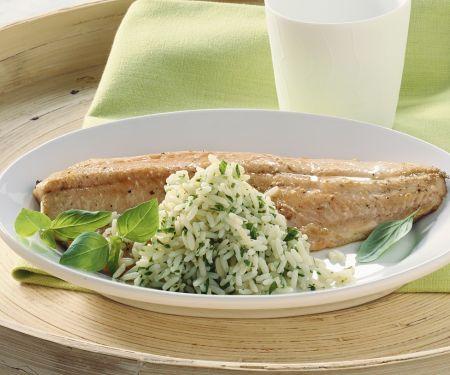 Saibling mit Reis