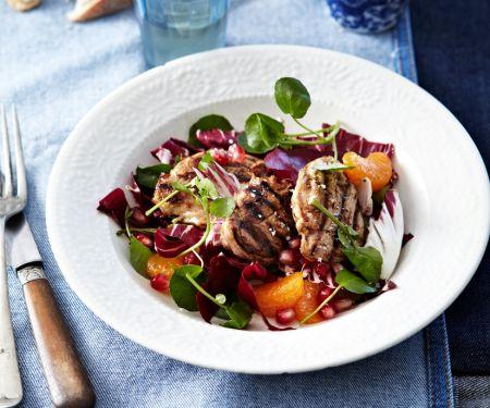 Salat mit Clementinen und Lamm