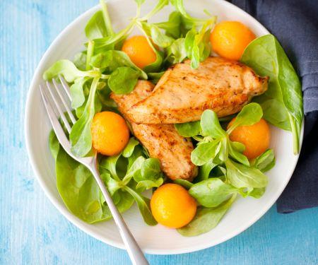Salat mit Hähnchen und Melone