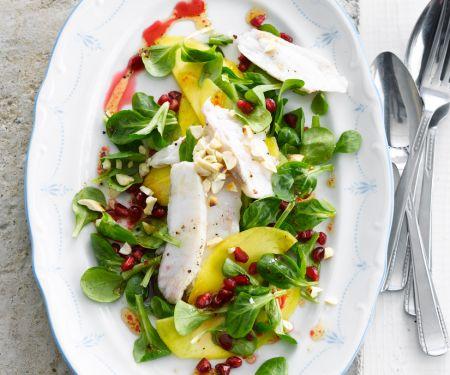 Salat mit Seeteufel und Mango