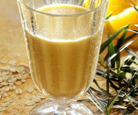 Sanddorn-Orangen Getränk mit Haferflocken