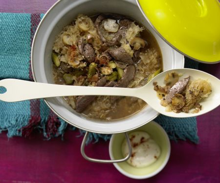 Sauerkraut-Filet-Topf