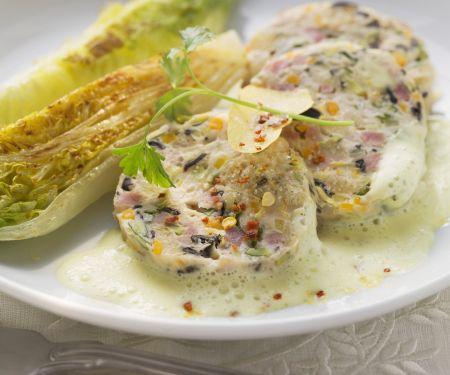 Saumagen nach Pfälzer Art mit Zitronensauce und gebratenem Salat