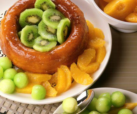 Savarin mit Früchten