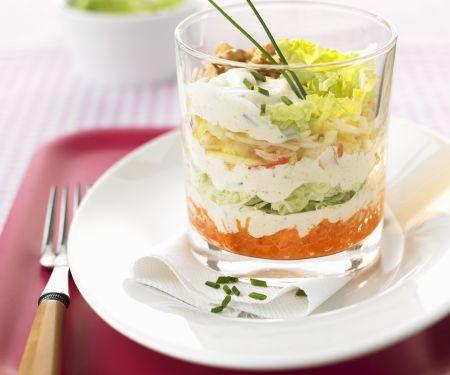 Schichtsalat mit Japankohl