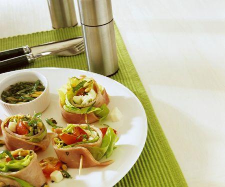 Schinken-Gemüse-Häppchen