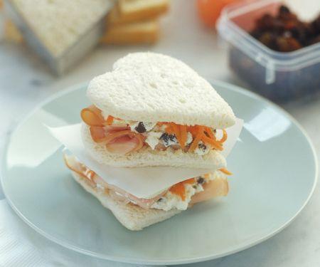 Schinken-Möhren-Sandwich