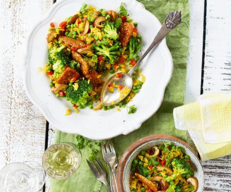 Schnelle Reispfanne mit Brokkoli