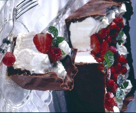 Schoko-Erdbeertorte mit Sahnecreme