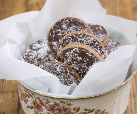 Schoko-Rum-Kekse mit Kokos