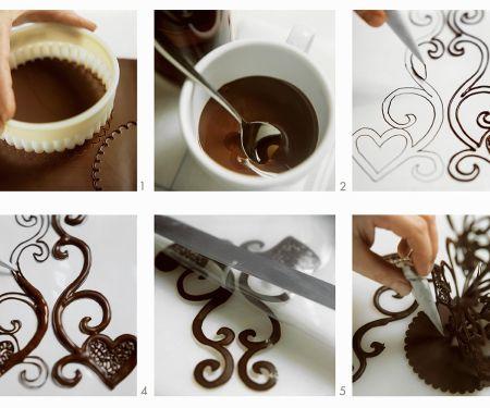 Schoko-Verziehrung für Torten und Kuchen