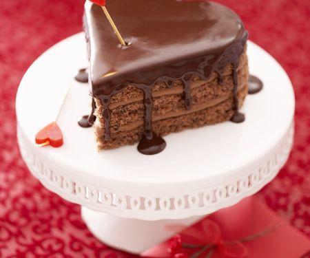 Schokoladen-Herzkuchen