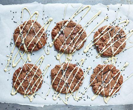 Schokoladen-Sesam-Kekse