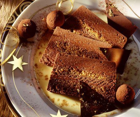 Schokoladenparfait mit Trüffel