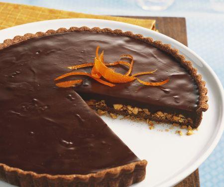 Schokoladentarte mit Orange und Mandel