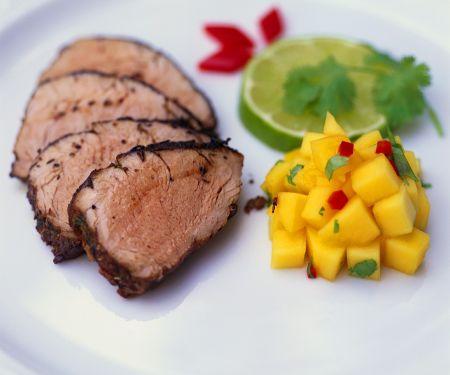 Schweinefilet mit fruchtiger Salsa