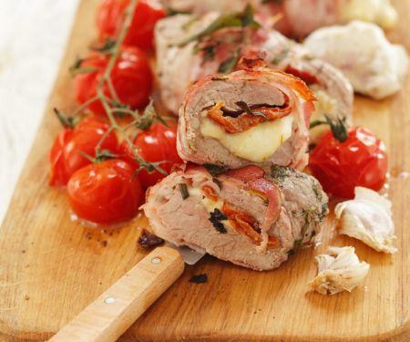 Schweinefilet mit Mozzarella-Füllung