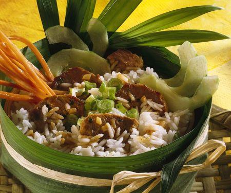 Schweinefleischcurry mit Reis