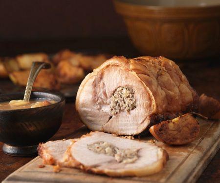 Schweinerollbraten mit Apfel-Pilz-Fllung