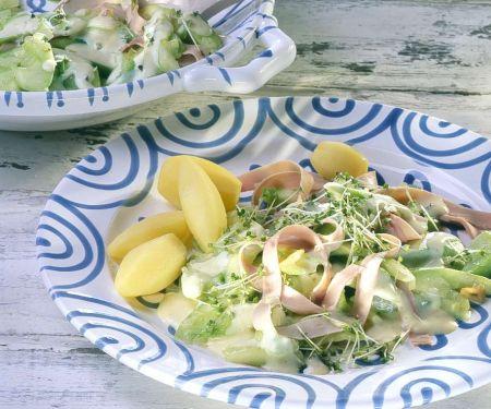 Senfgurken mit Kartoffeln